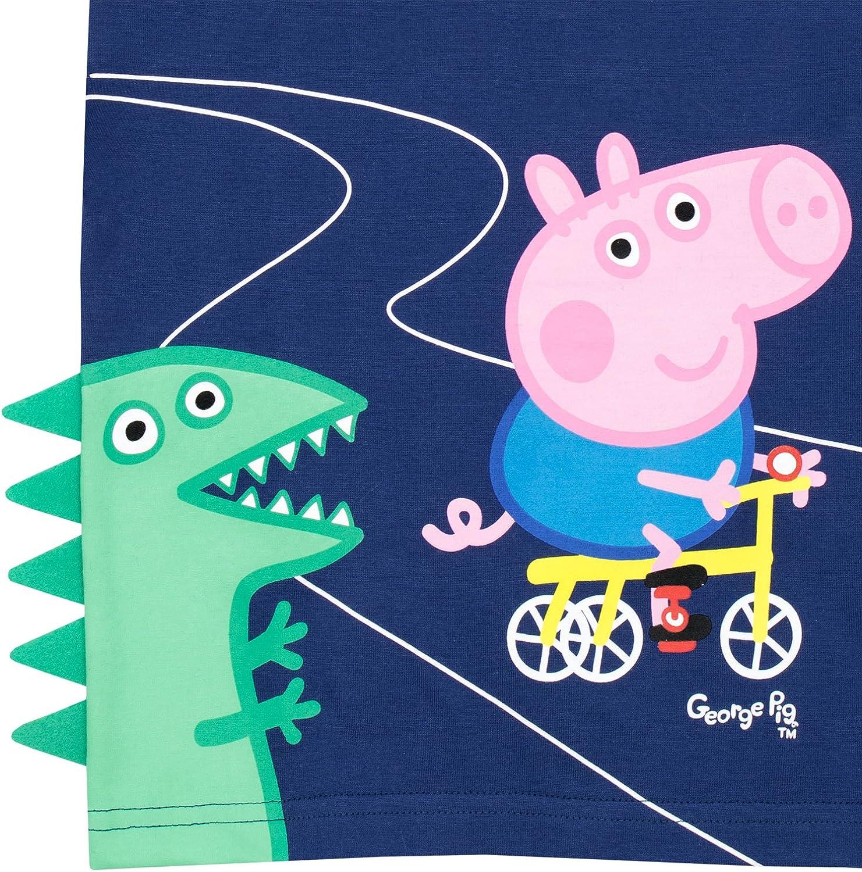 Maglietta a Maniche Corta Ragazzi Peppa Pig George Pig