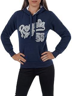 L669 Damen Pullover Long Kapuzenpullover Sweatshirt Hoodie Jacke Langarm