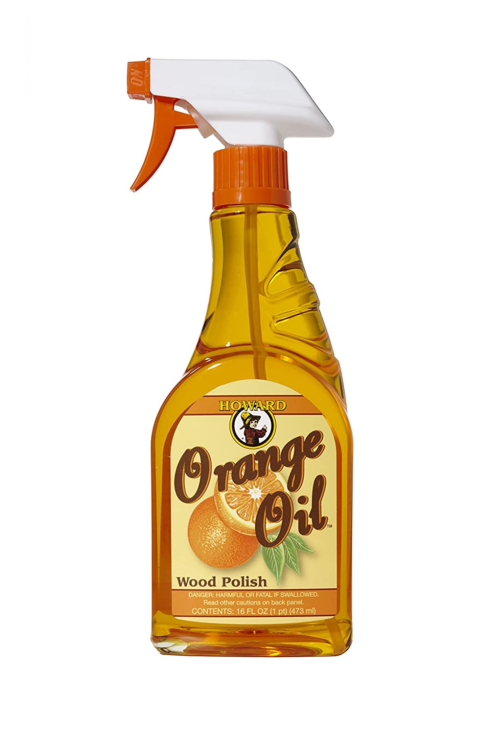 Howard Products ORS016 16-Ounce Orange Oil Wood Polish Trigger Spray, 1-Pint