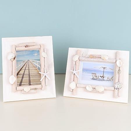 Set of 2 assorted Seaside Photo Frames - Nautical Themed Photo ...