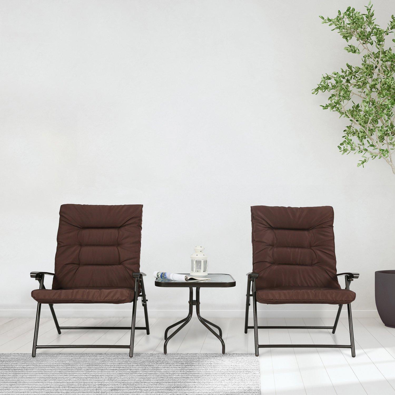 Amazon.com: Iwicker Patio - Juego de 3 sillas plegables ...