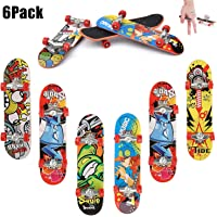QNFY Finger Skateboard, 6PCS Mini Fingerboard Finger Skate