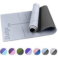 Dustgo Yogamat, gymnastiekmat, yogamat, antislip, sportmat voor fitness, pilates en gymnastiek, met draagriem…