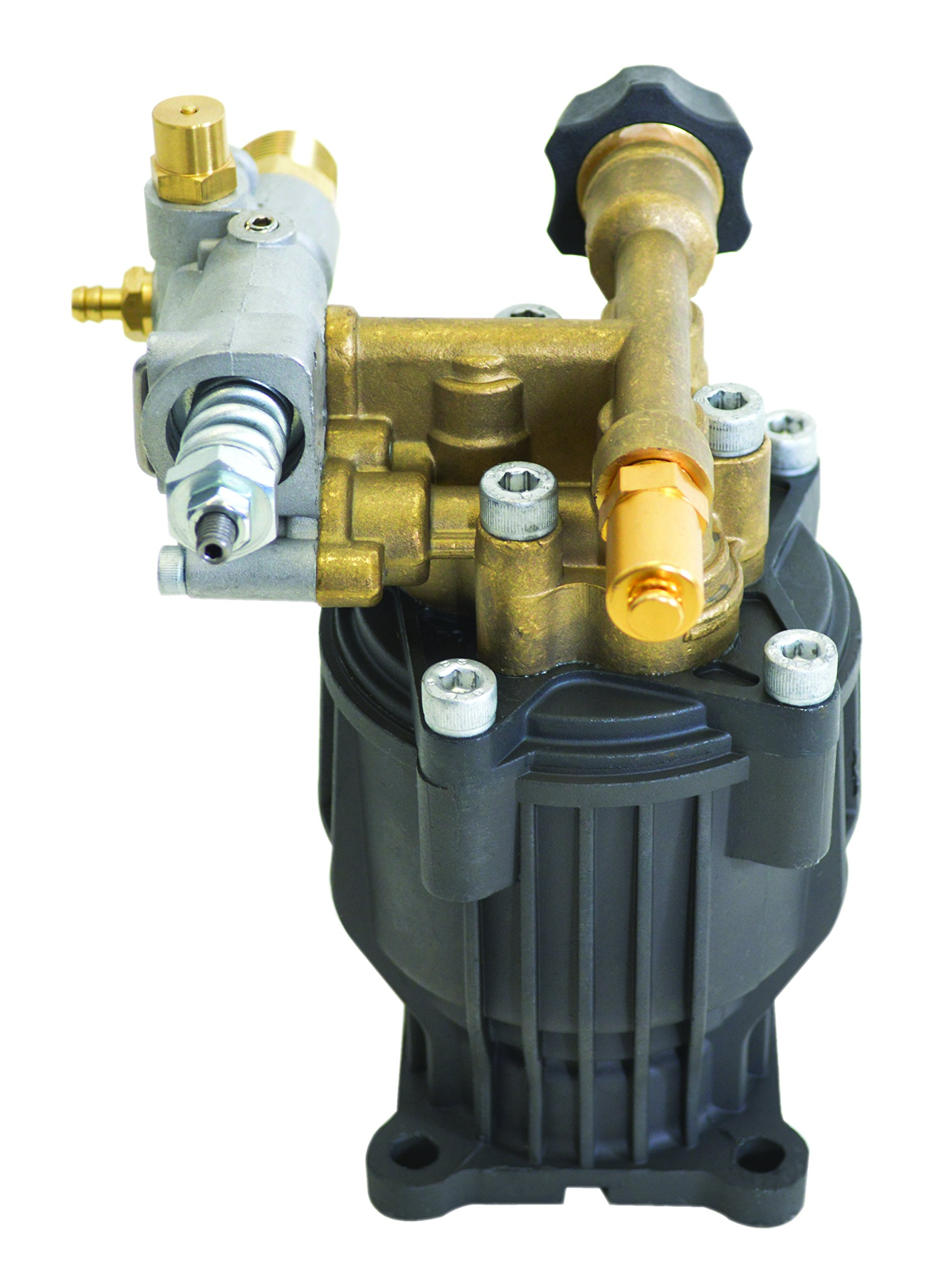 SIMPSON Cleaning 90029 Axial Cam Horizontal Pressure Washer Replacement Pump 8.6CAH12B 3100 PSI @ 2.5 GPM with Brass Head and PowerBoost Technology by Simpson Cleaning (Image #3)