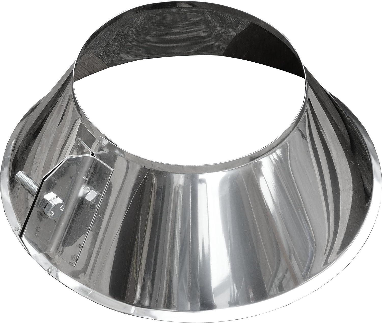 Dachdurchf/ührung 0/°-5/° DW 200 Schornstein Edelstahl gl/änzend Keine Farbe w/ählbar MK sp Lochdurchmesser 280 mm Z o.o Edelstahl