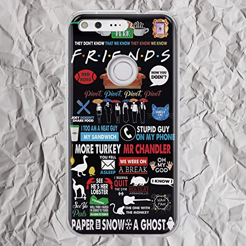 fb3b39fa246 Friends TV Show Merchandise Gifts Ross Geller Pivot Shut Up Joey and  Chandler Funny Quote for LG G5 G6 Google Pixel 3 XL 2XL 3XL 2 XL Phone Case  Central ...