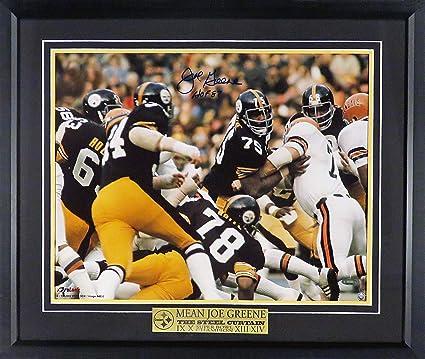 "4d5f7dcc6b2 Pittsburgh Steelers Joe Greene Autographed""Steel Curtain"" 16x20  Photograph (w/"""