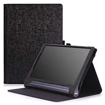 MoKo Lenovo Yoga Tab 3 10 Case Slim Folding Cover Case for Lenovo Yoga Tab 3 10 Inch 2015 Tablet, Black