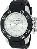 UNLISTED WATCHES Men's UL1184 City Streets Silver Case Dial Black Bezel Black Strap Watch