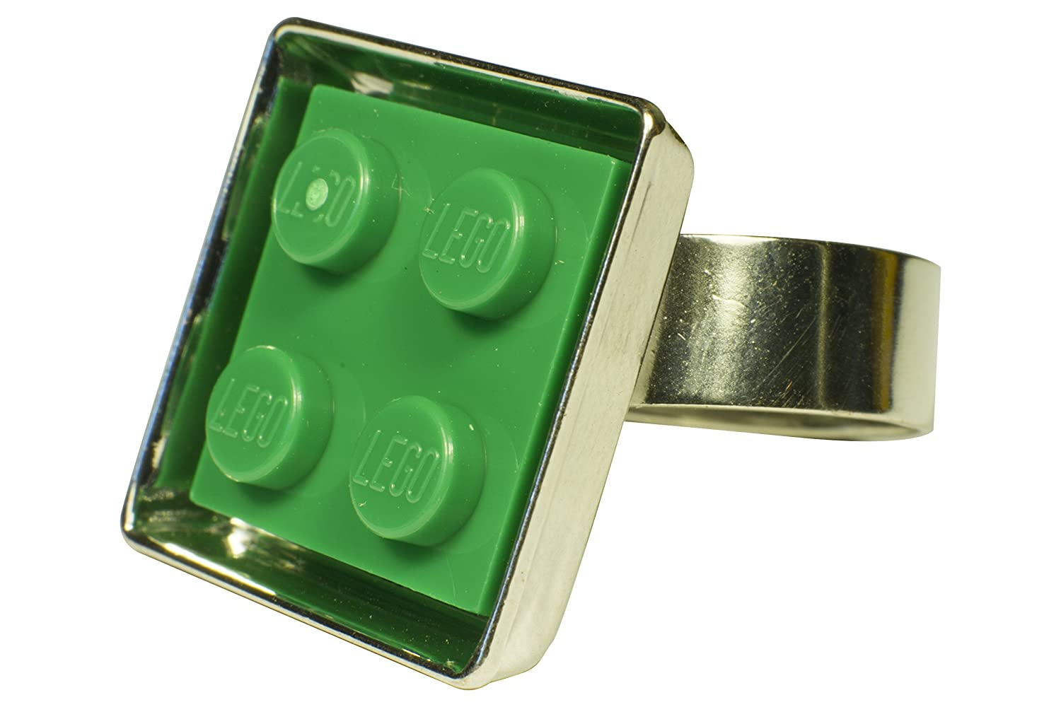 Custom Adjustable LEGO Ring - Green