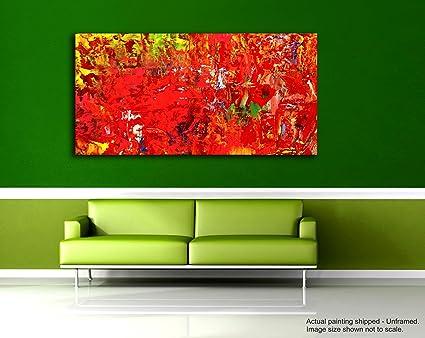 Dipinti Per Soggiorno : Tamatina modern art tela dipinti un giorno in rosso dipinto