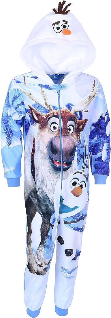 Disney : Pijama de cuerpo entero para niño de Frozen azul 3-4 Años