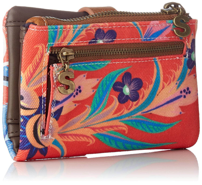 Desigual Mone_liana Julia Mujer Carteras Rojo (Carmin) 2x9.5x14.3 cm (B x H x T): Amazon.es: Zapatos y complementos