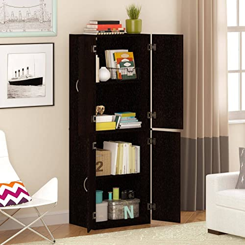 Storage Cabinet, Multiple Finishes Storage cabinet with doors Spacious, ample storage for kitchen accessories and pantry items behind four doors Product Dimensions 21.31 L x 15.44 W x 59.88 H