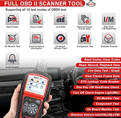 Autel AL519 Color Screen OBDII/CAN Scan Tool