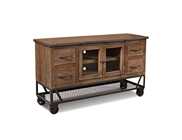 Sideboard Industrial amazon com crafters weavers rustic industrial style 55 inch tv