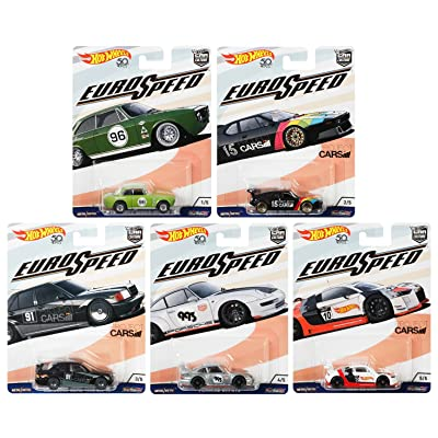 Hot Wheels 1:64 Car Culture 2020 Euro Speed - Set of 5: Toys & Games