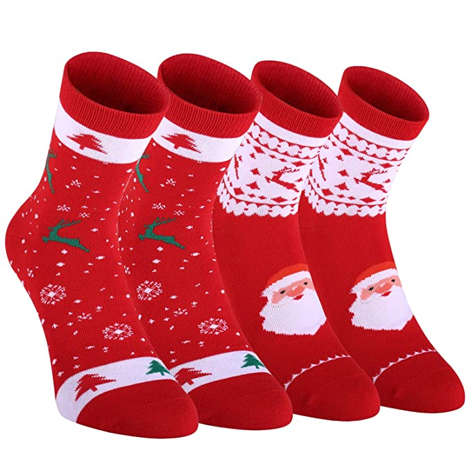Fazitrip calcetines para la Navidad con 2 pares, calcetines de deporte, La mejor opción