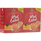 Brooke Bond Red Label Black Loose Tea, 2 X 375 gm