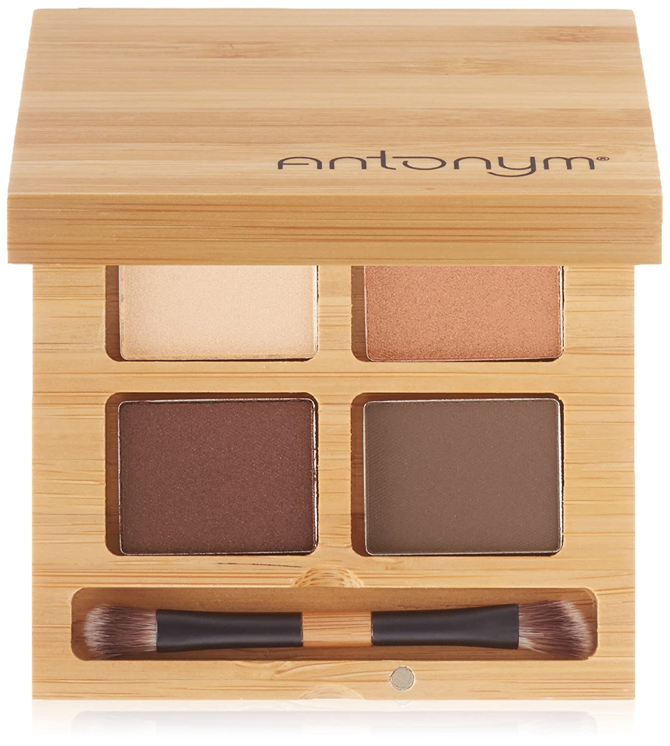 Antonym Cosmetics Ecocert Certified Eyeshadow Quattro, Noisette, Brown by Antonym Cosmetics VGS-008