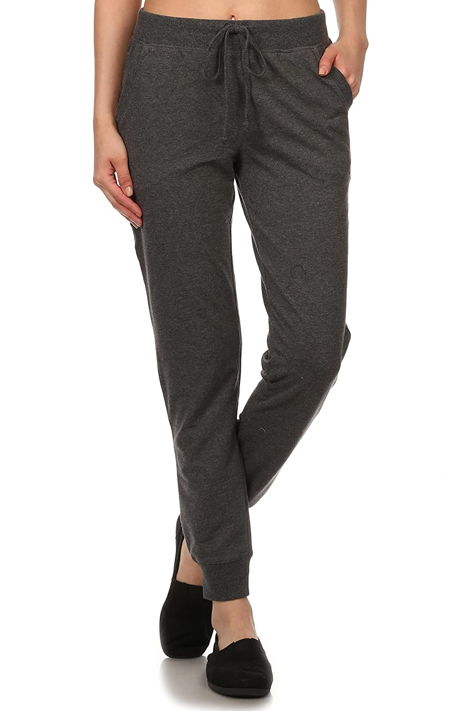 Women's Jogger Terry Lounge Long Jersey Pant Drawstring Elastic / Cotton Sweat Pants