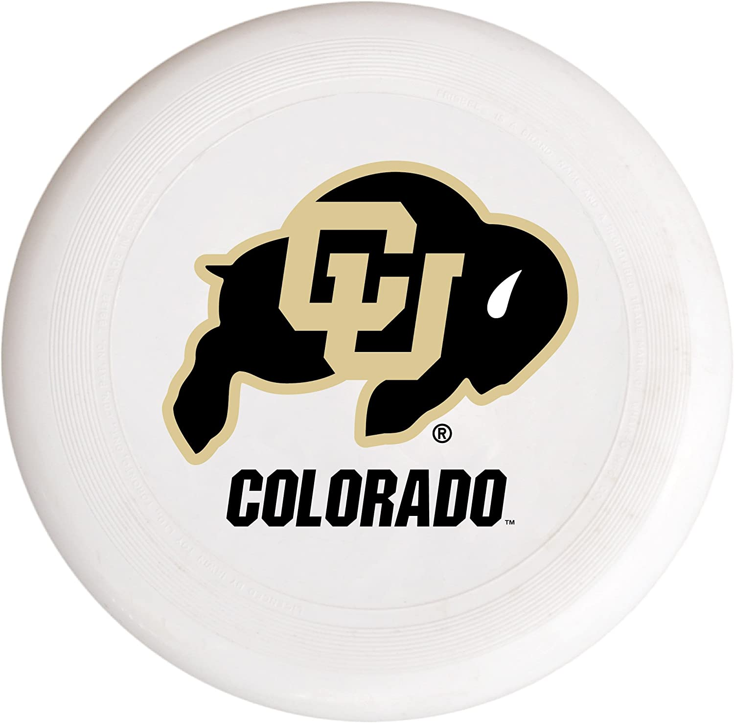 R and R Imports NCAA Colorado Buffaloes Flying Disk-University of Colorado Plastic Flying Saucer