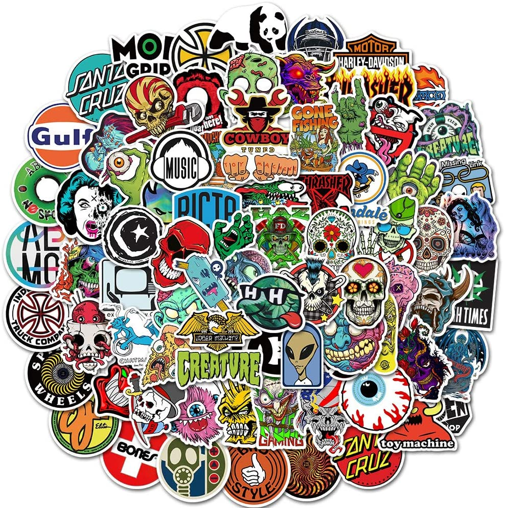 MYLIES Graffiti Sticker Pack Station Wagons Laptop Stickers,Skateboard Stickers,Used For Suitcases 100 pcs Vinyl Decal Sticker Bicycles Motorcycles Waterproof Graffiti Stickers Pack