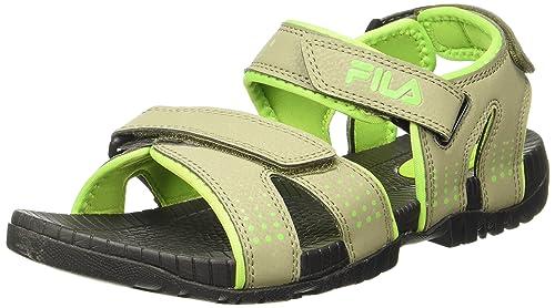 10dfc9383a419 Fila Men s Macklin Gry and LIM Sandals - 11 UK India (45 EU ...