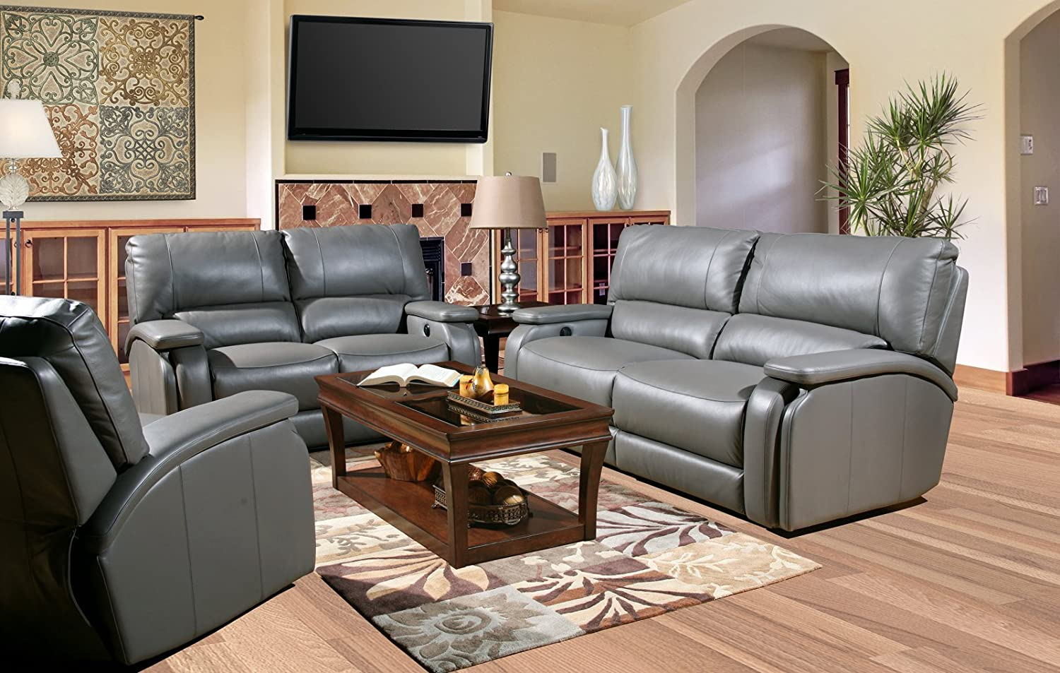 Amazon.com: Parker House Grisham Living Room Set With Sofa And Loveseat:  Kitchen U0026 Dining