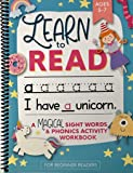 Learn to Read: A Magical Sight Words and Phonics Activity Workbook for Beginning Readers Ages 5-7: Reading Made Easy   Preschool, Kindergarten and 1st Grade