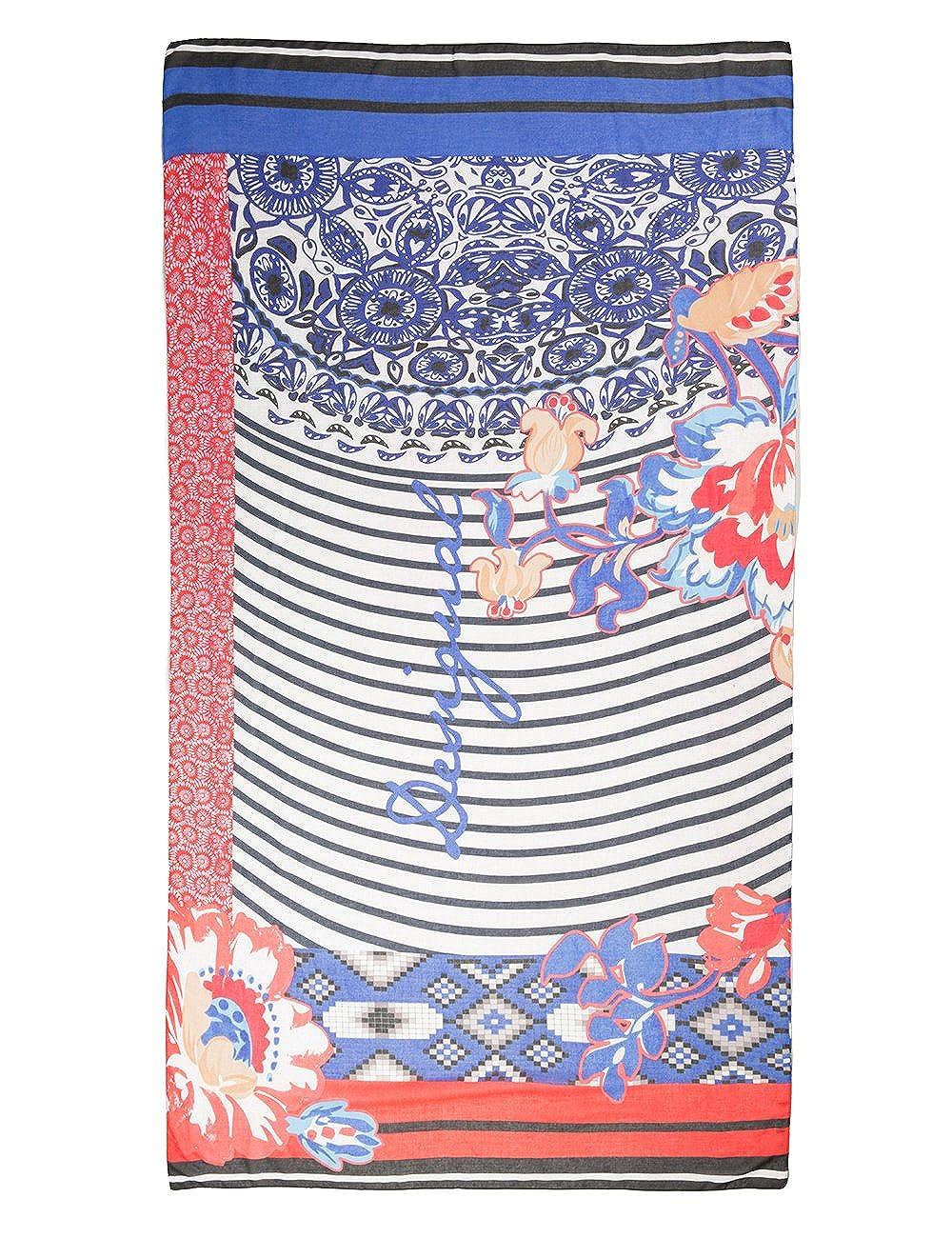 Desigual Kimera - Écharpe - Imprimé - Femme - Bleu (Azul Mazarine) - Taille  unique (Taille fabricant  Taille Unique)  Amazon.fr  Vêtements et  accessoires f003426a11a