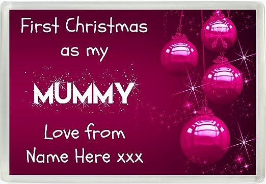 Personalizado primera Navidad como mi mamá amor de Jumbo imán para ...