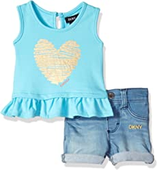 DKNY Baby Girls Fashion Top and Short Set