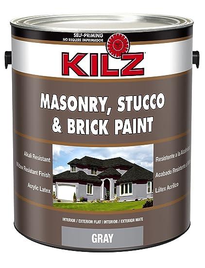 amazon com kilz interior exterior self priming masonry stucco and