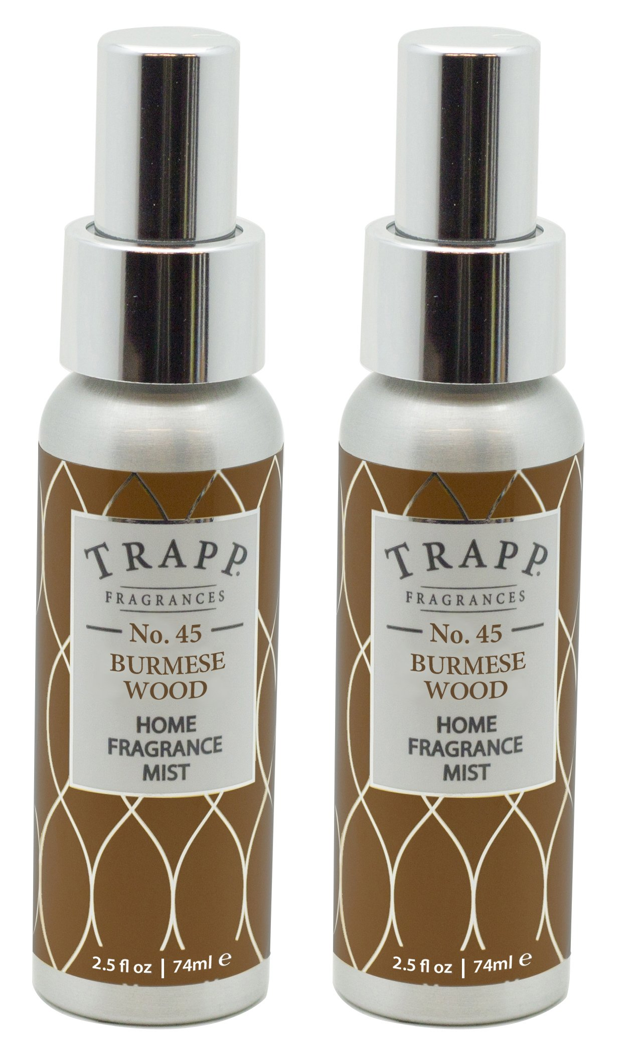 Trapp Home Fragrance Mist, No. 45 Burmese Wood, 2.5-Ounce (2-Pack)