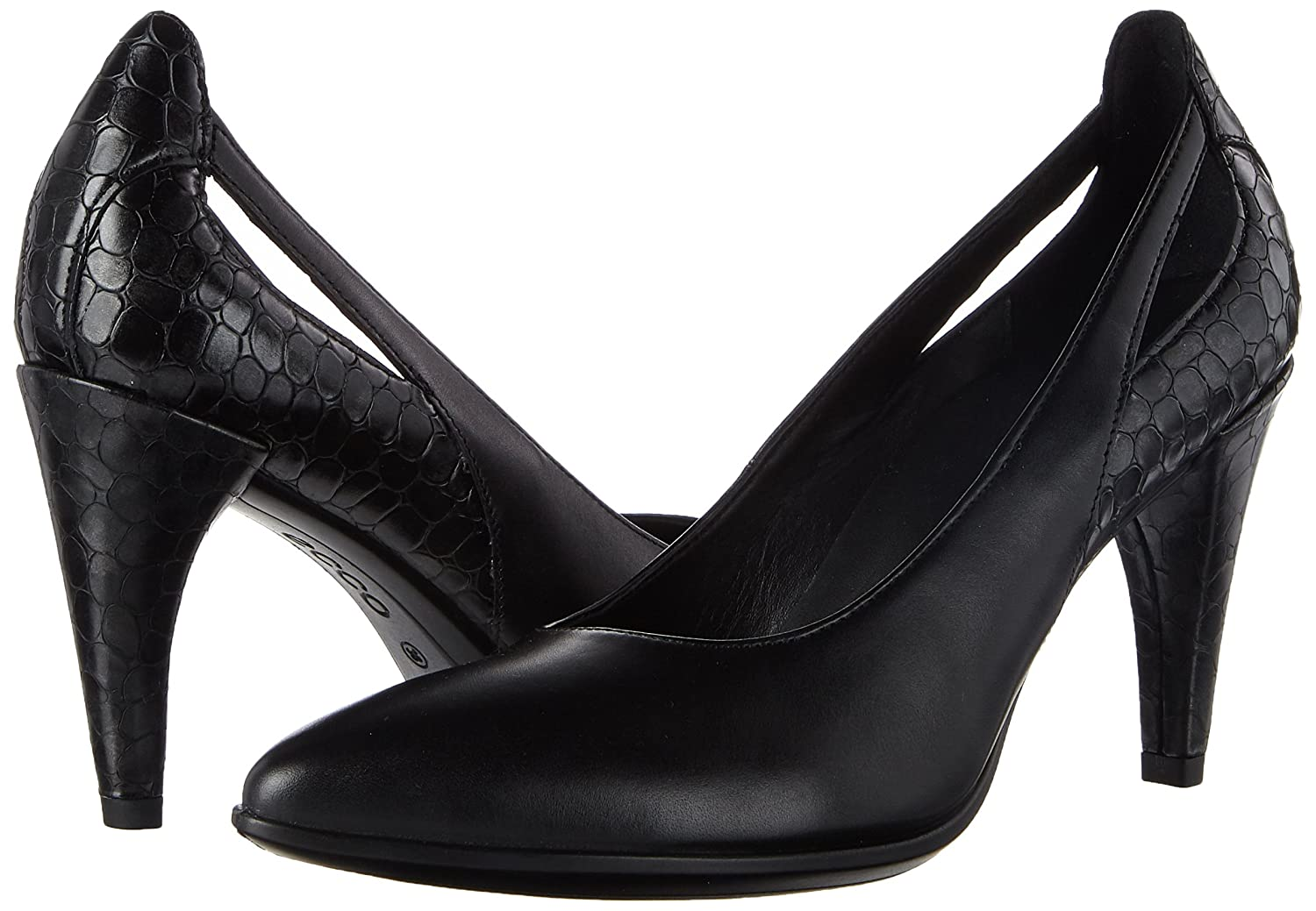 Ecco Pumps Damen Shape 75 Pointy Pumps Ecco Schwarz (Back/schwarz-buffed Silver) 2ee196