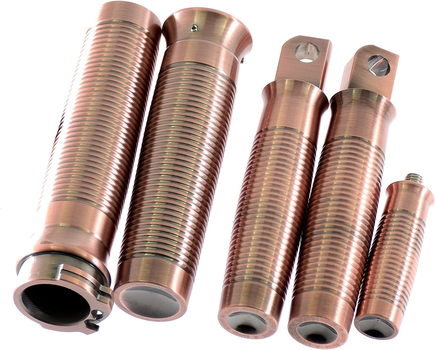 Motorcycle CNC Handlebar Grips Foot Pegs Shift Peg For Harley Sportster XL1200 883 48 Softail Dyna Touring,Bronze