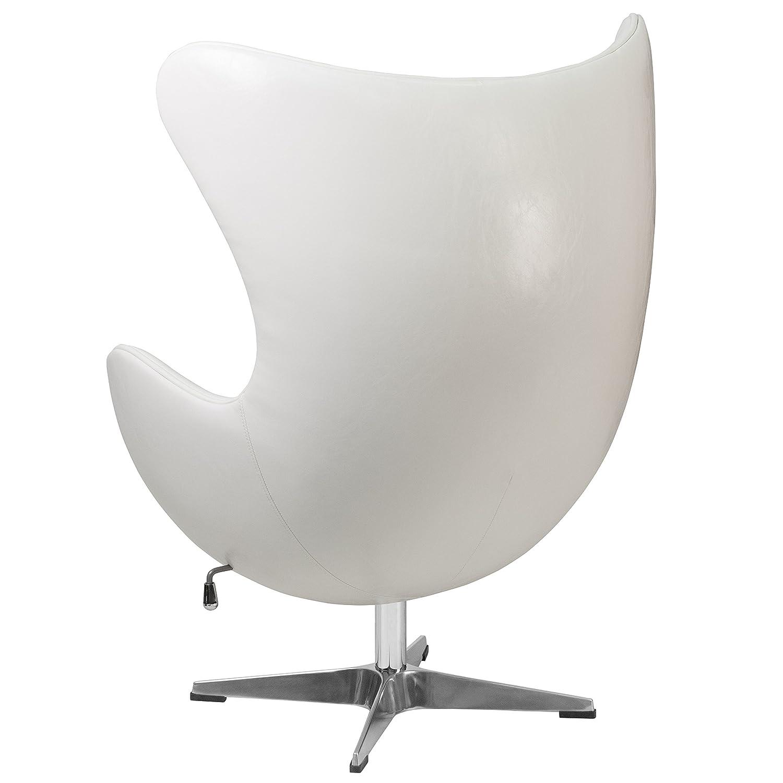 amazoncom flash furniture white leather egg chair with tiltlock  - amazoncom flash furniture white leather egg chair with tiltlockmechanism kitchen  dining