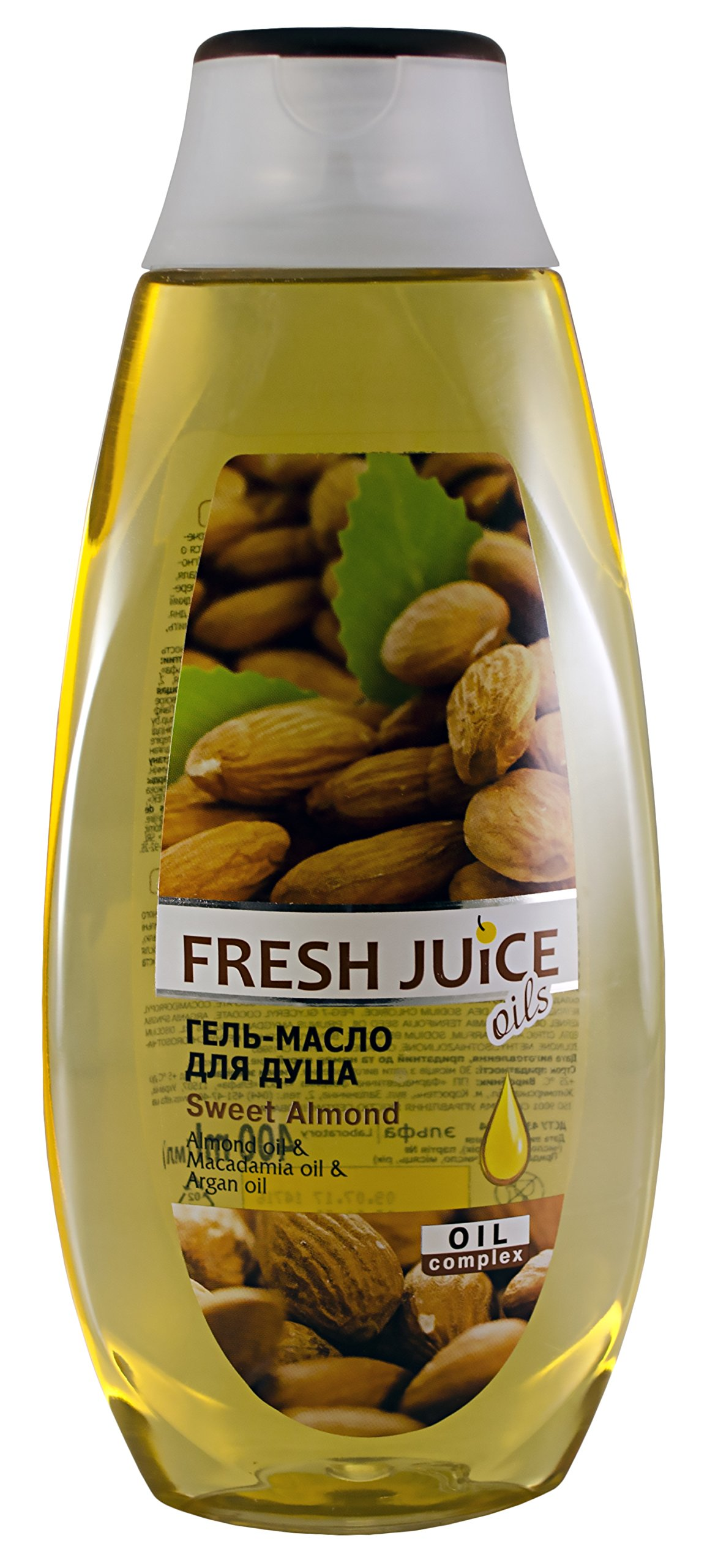 Fresh Juice. Shower Gel Sweet Almond with almond oils, macadamia, and argan oil