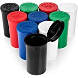 Top Class Ventures Stash Jar Herb Storage Containers - 19 Dram Pop Top Bottles - Keeps Contents Fresh And Locks Smell In…