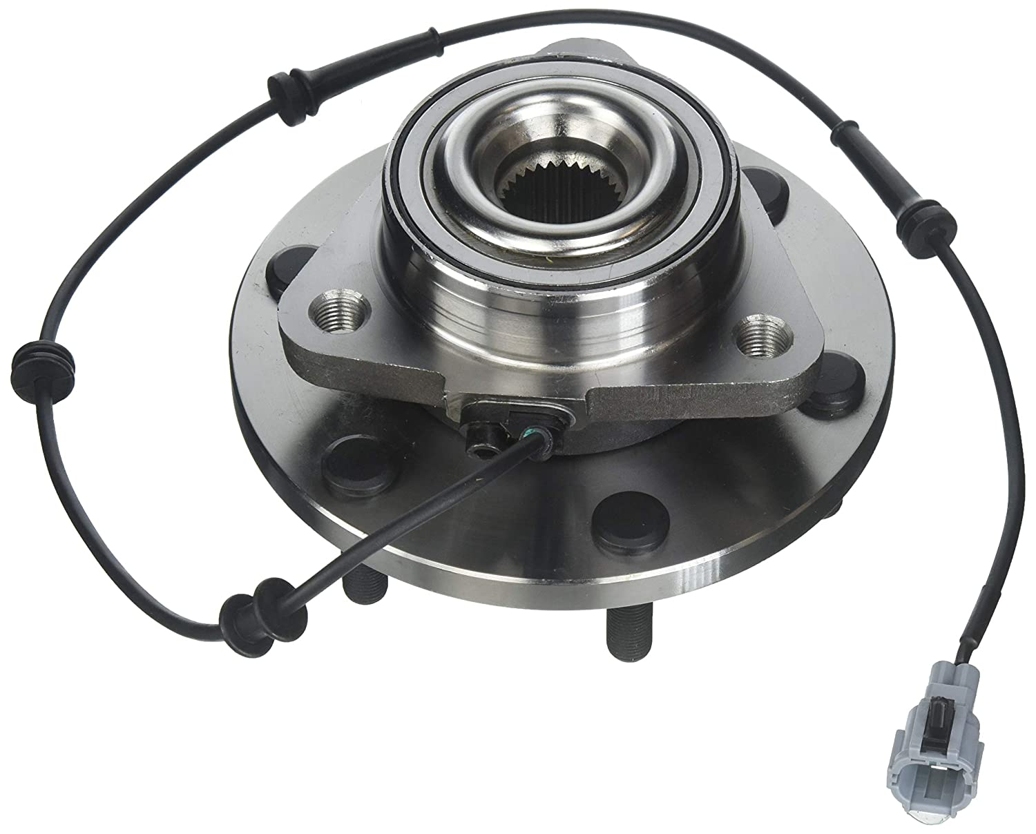 ECCPP Wheel Hub and Bearing Assembly front 515066 fit 2004-2008 Nissan Titan Armada Infiniti QX56 Replacement for 6 lugs wheel hub with ABS 3 Bolt Flange 1 piece