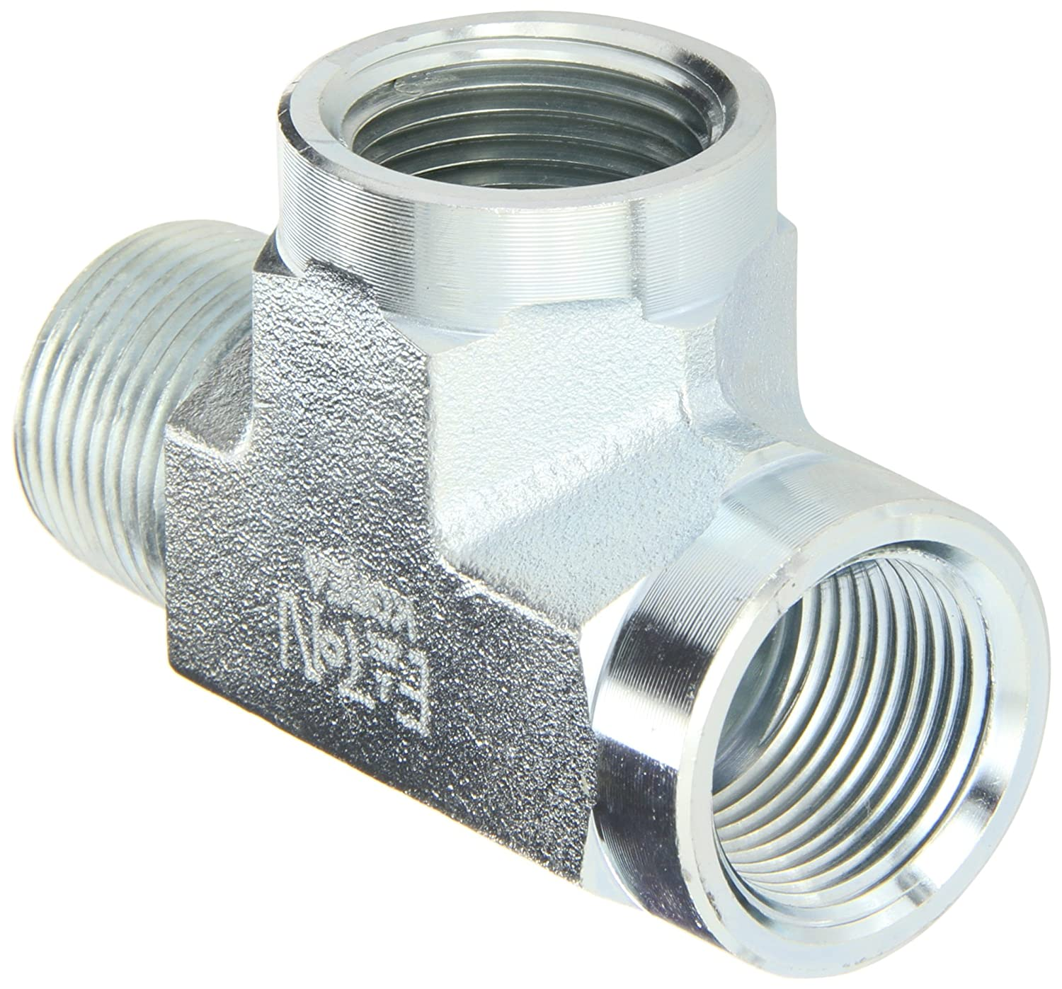 Run Tee 3//4 NPT Male x NPT Female x NPT Female Eaton Aeroquip 2092-12-12S Steel Pipe Fitting