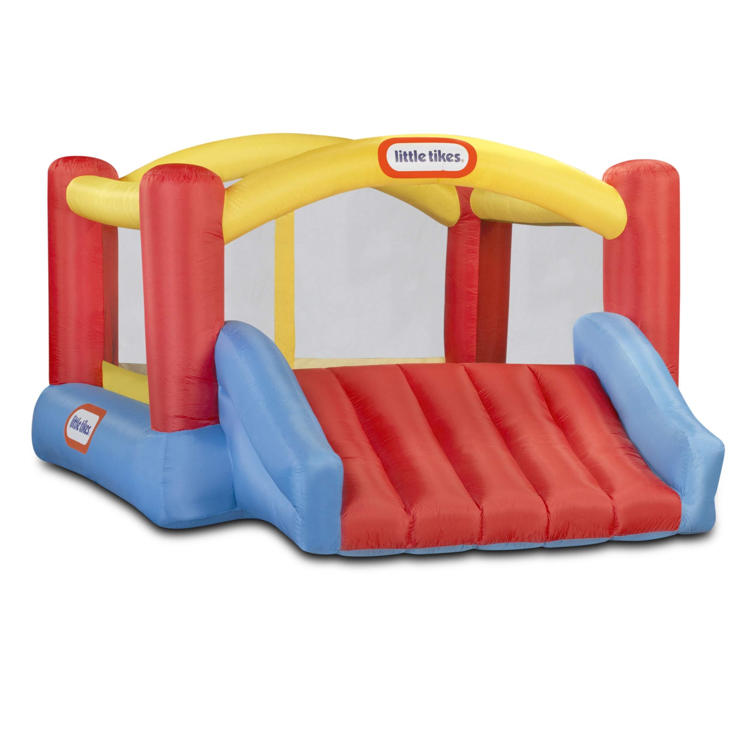 Little Tikes Inflatable Jump 'n Slide Bounce House w/heavy duty blower (Renewed)