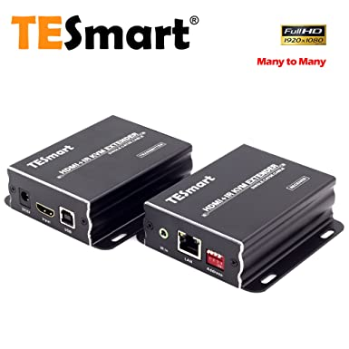 HDMI 1080P 120M Extender Over Ethernet LAN CAT5e CAT6 Network Cable 400Ft