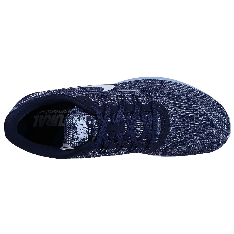 super popular 22dd4 792dd Nike Free RN, Baskets Mode pour Homme Bleu Mid Night Navy White-Blue Cap -  Bleu - Mid Night Navy White-Blue Cap,  Amazon.fr  Chaussures et Sacs