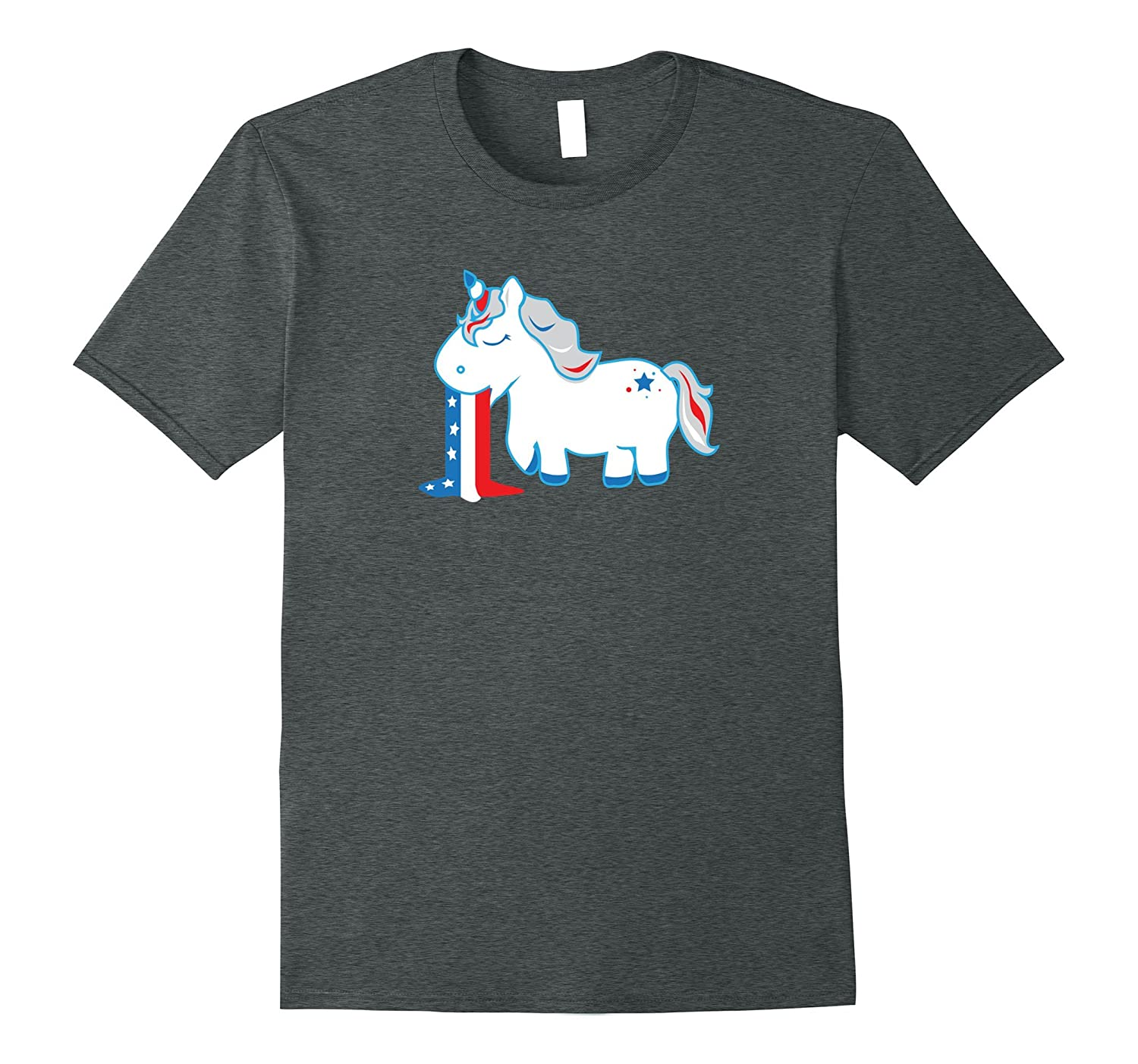 4th of July Unicorn Shirt, Barfing Red White & Blue Gift