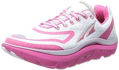 07528b10e1 Altra Women's Paradigm Max Cushion Running Shoe,White/Pink,6 ...