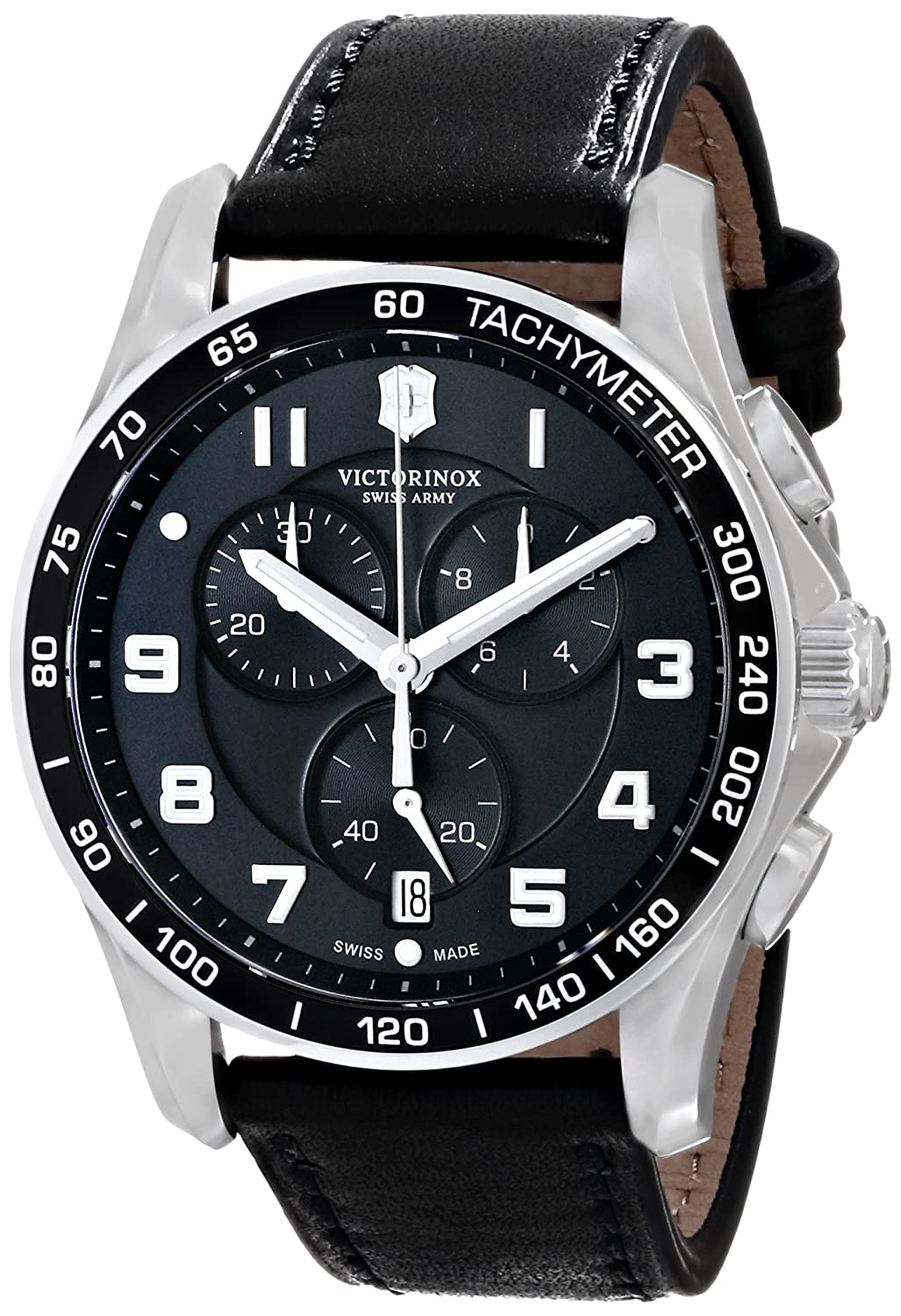 Victorinox Chrono Classic Quartz Movement Black Dial Men S Watch 241651