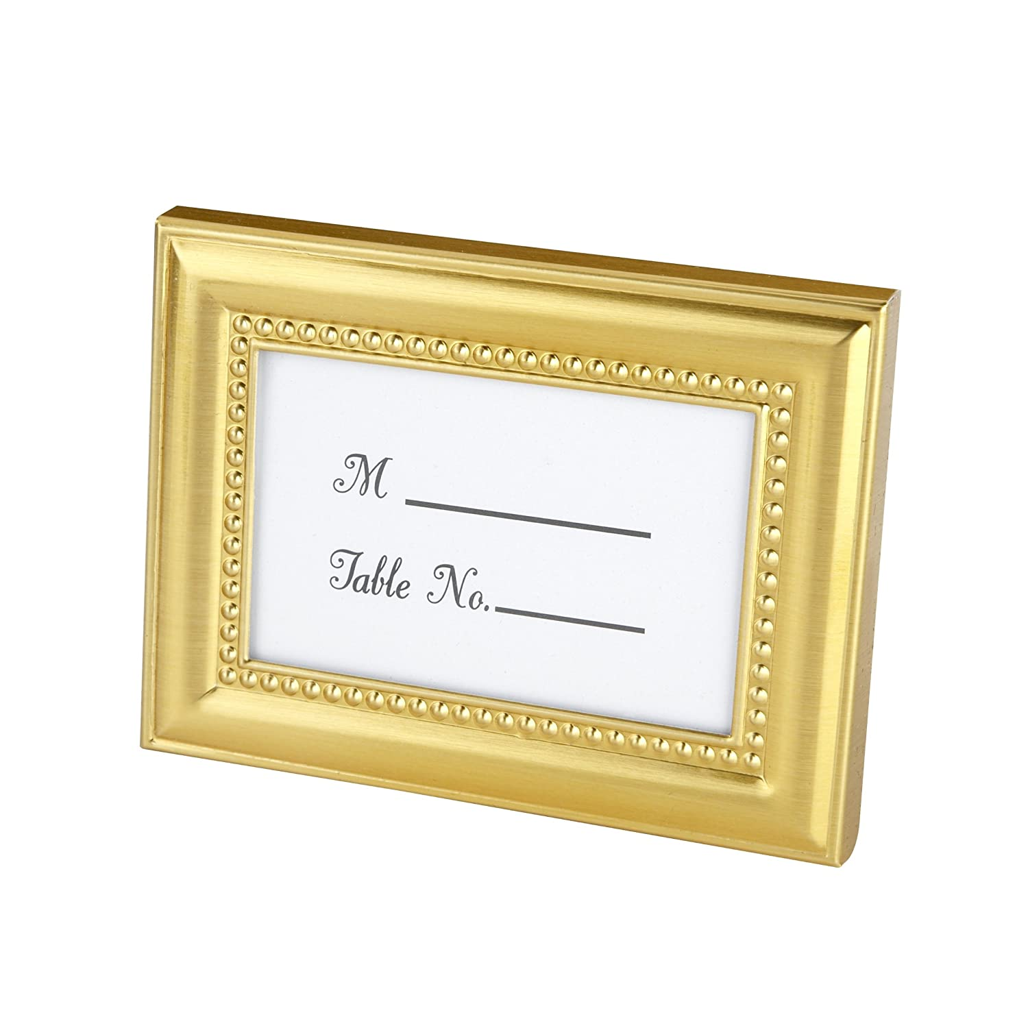 Amazon.com: Beautifully Beaded Gold Photo Frame/Place Holder: Home ...