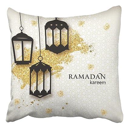 Amazon emvency throw pillow covers ramadan kareem paper cut emvency throw pillow covers ramadan kareem paper cut arabic lamps festive ramadan greetings design decor pillowcases m4hsunfo